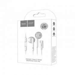 ECOUTEURS HOCO INTRA-AURICULAIRES TYPE-C - BLANC