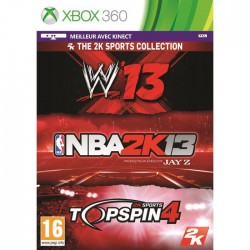 JEU XBOX 360 TRIPLE PACK 2K SPORT PS3 NBA 2K13 + WWE 13 + TOP SPIN 4