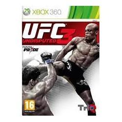 JEU XBOX 360 UFC UNDISPUTED 3