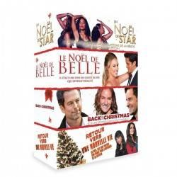 DVD COFFRET 4 FILMS BELLE + RETOUR VERS UNE NOUVELLE VIE + UN NOEL DE STAR + BACK TO CHRISTMAS